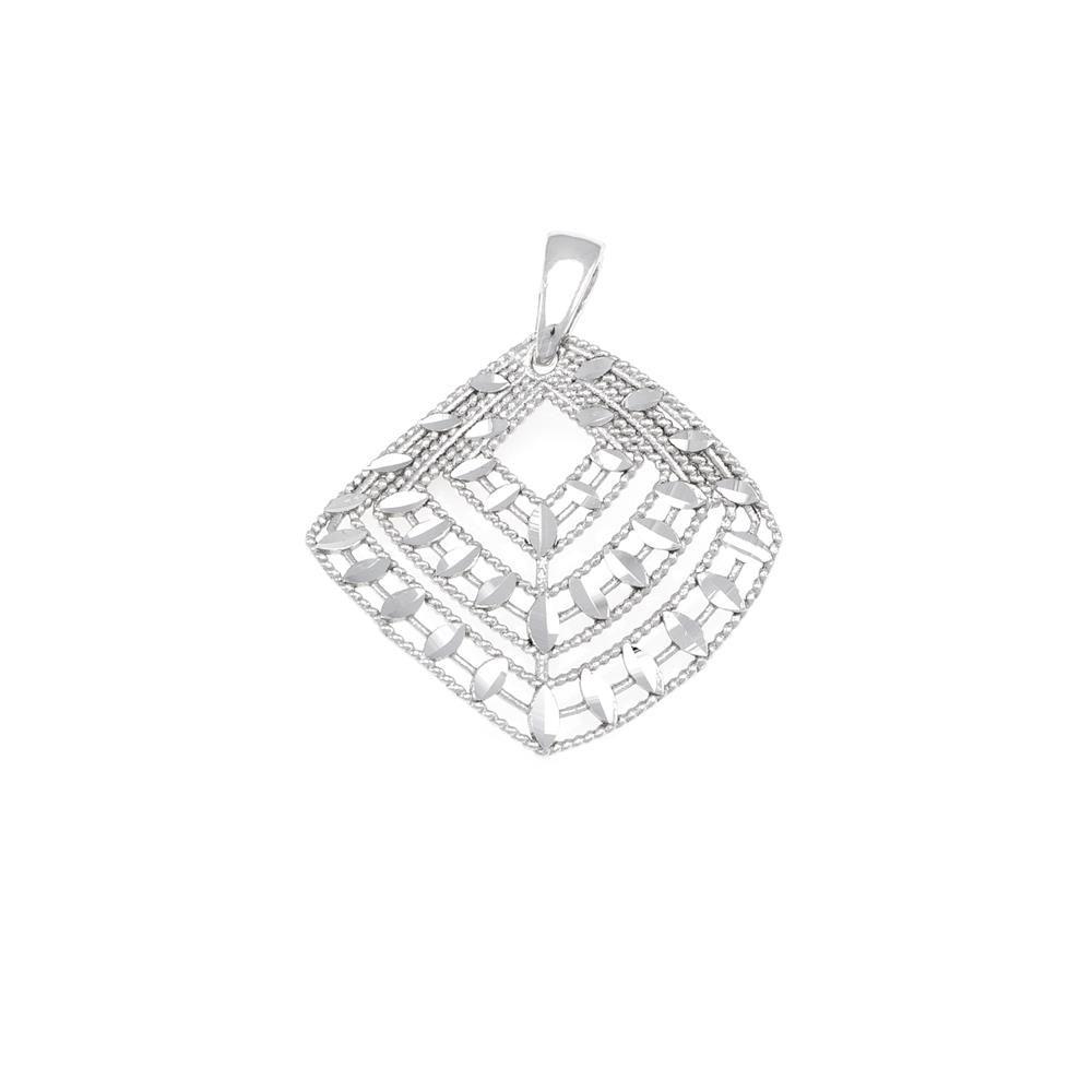 Paclo 16DC30LIPR999 argento ag 925 Pendente Galvanica Rodiata Diamantato 3cm
