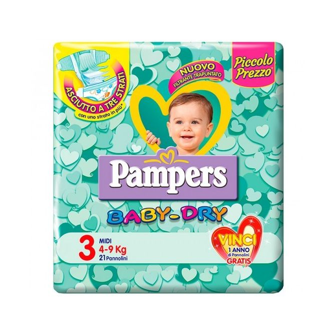 pannolini Pampers Baby Dry 49 kg 21 pezzi