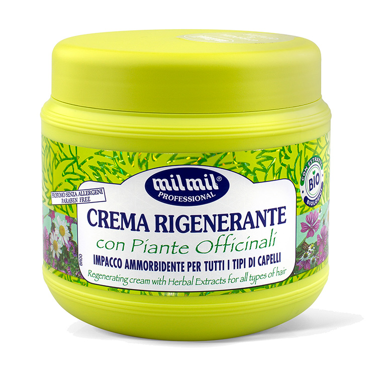 Mil Mil Crema rigenerante bio con piante officinali 750 ml maschera capelli