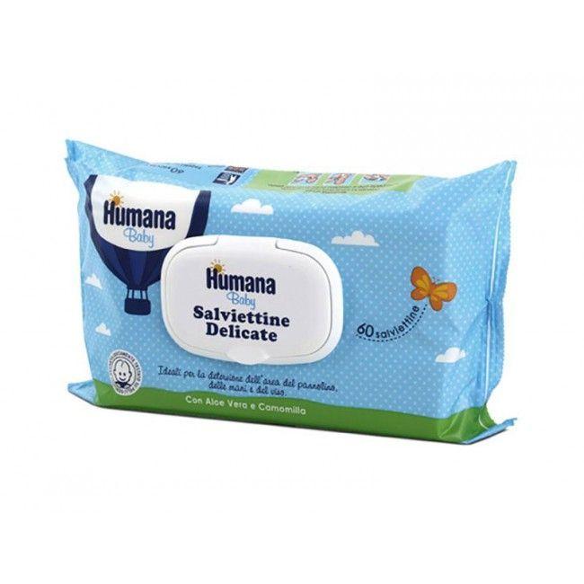 Salviettine delicate umidificate bimbo bimba neonato Humana TU