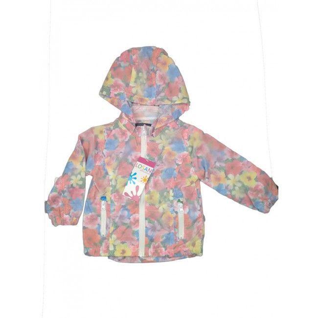 Giubbino giacca a vento bimba bambina Losan fiori fantasia 6A