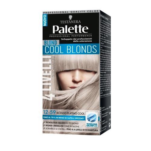 Testanera  Palette cool blonds  colorazione capelli 1259 biondo platino cool