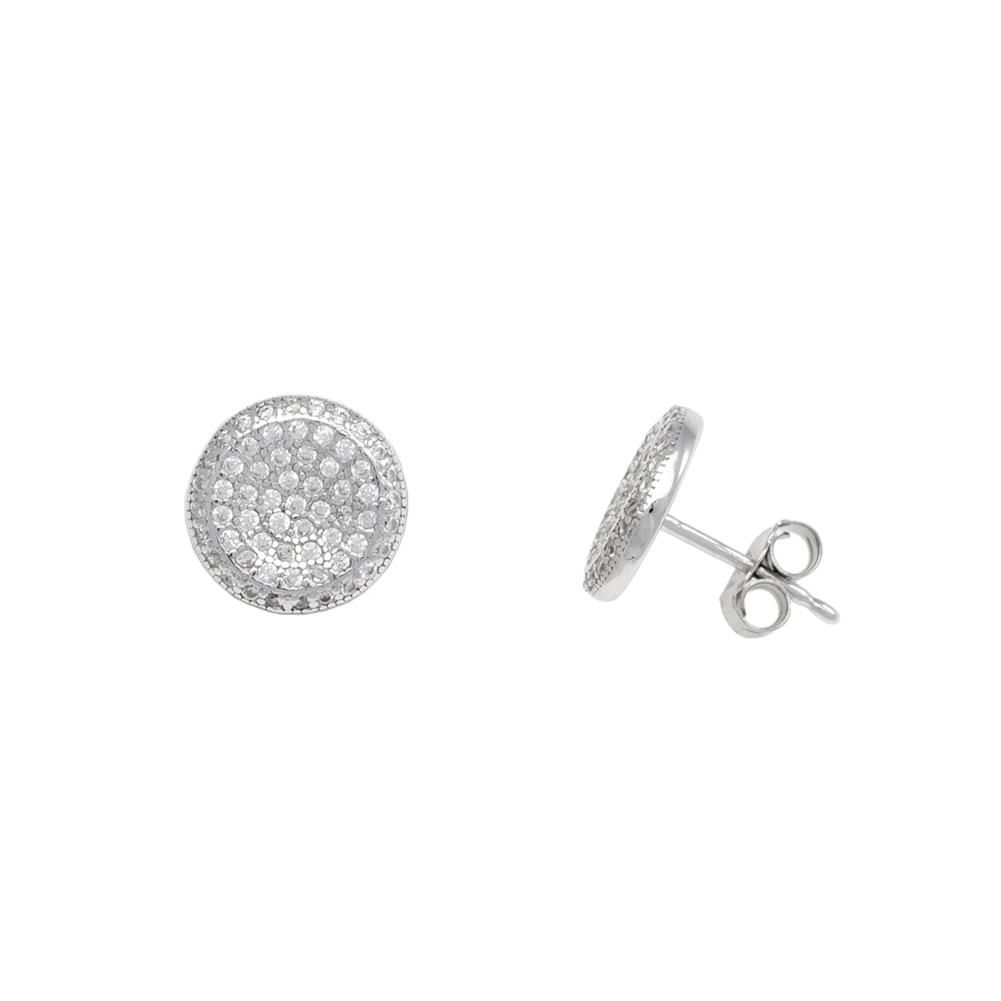 Paclo 17Z078IPER999 argento ag 925 Orecchini Galvanica Rodiata Zircone Bianco 11cm