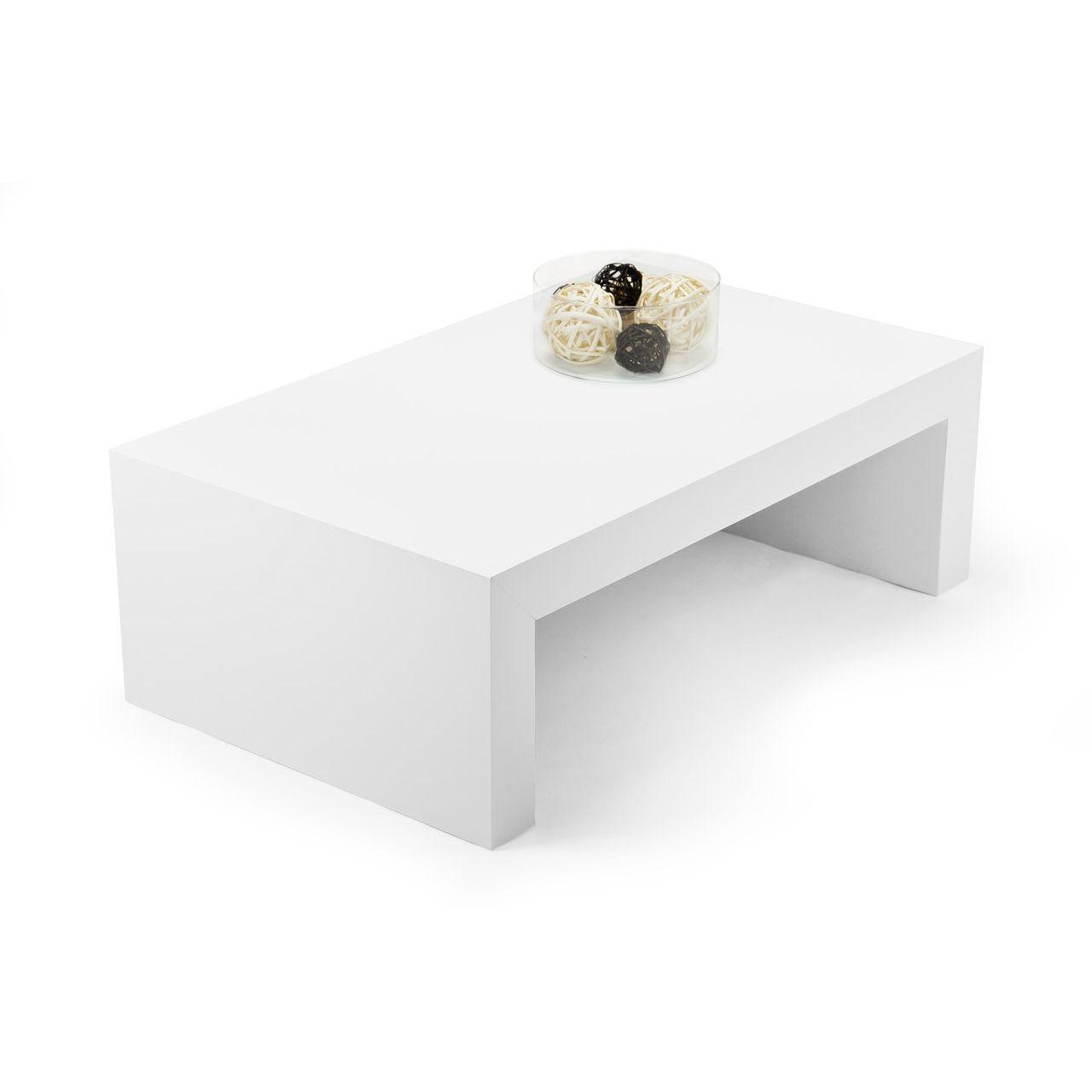 Mobilifiver First H30 Tavolino da Salotto Bianco Lucido FIRH30BIALU