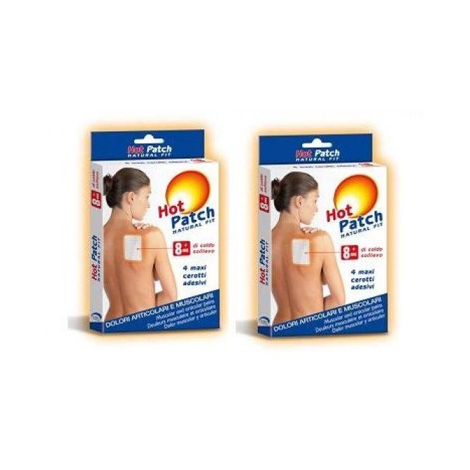 Hot patch cerotto adesivo dolori articolari e muscolari duopack