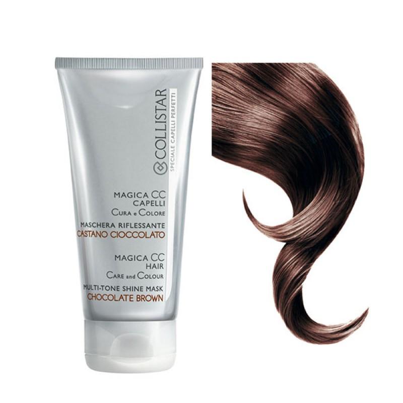 Collistar magica CC capelli cura e colore  maschera riflessante CASTANO CIOCCOLATO 150 ml