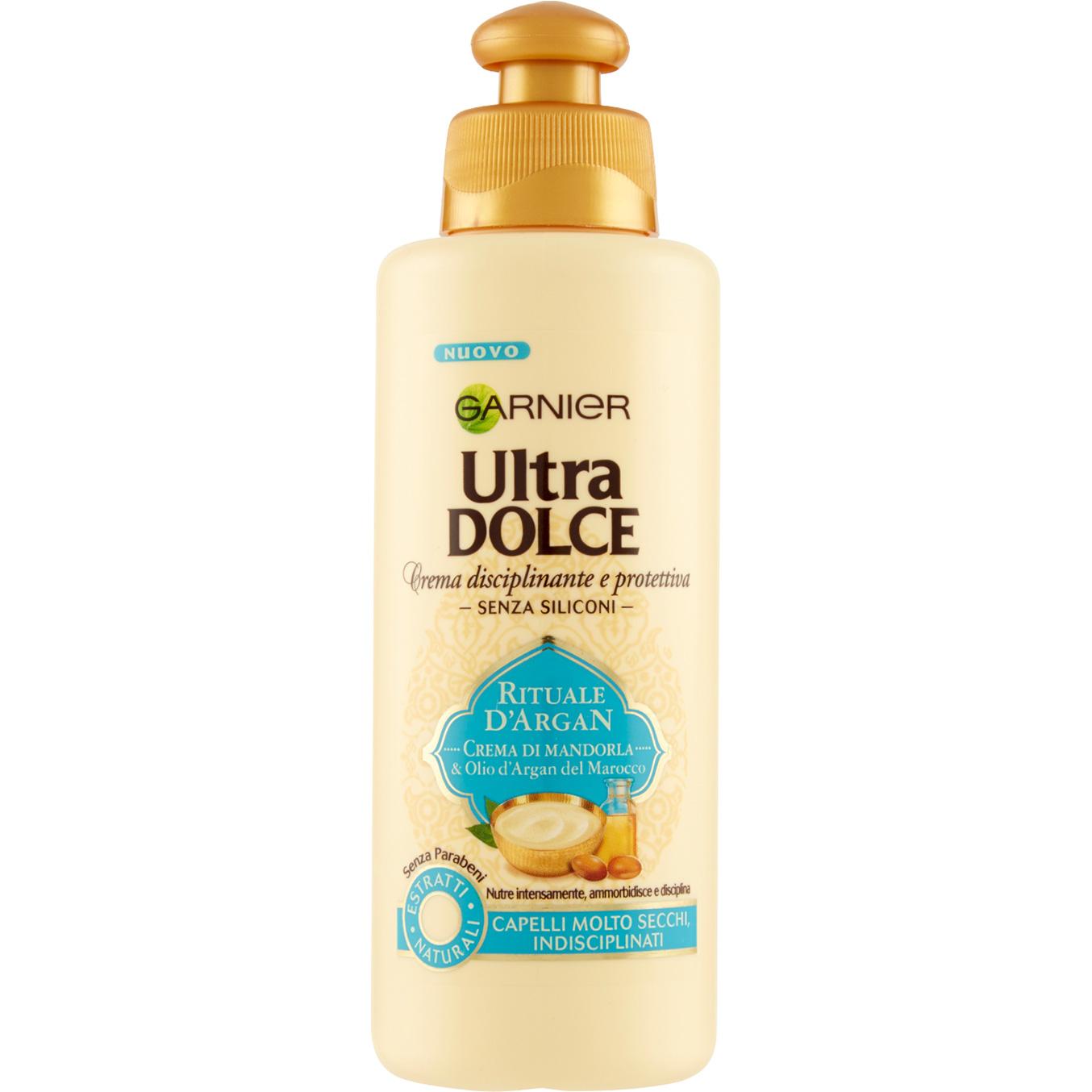 new arrival ea477 8033f Garnier Ultra Dolce Rituale D'Argan crema disciplinante e protettiva per  capelli secchi 200 ml