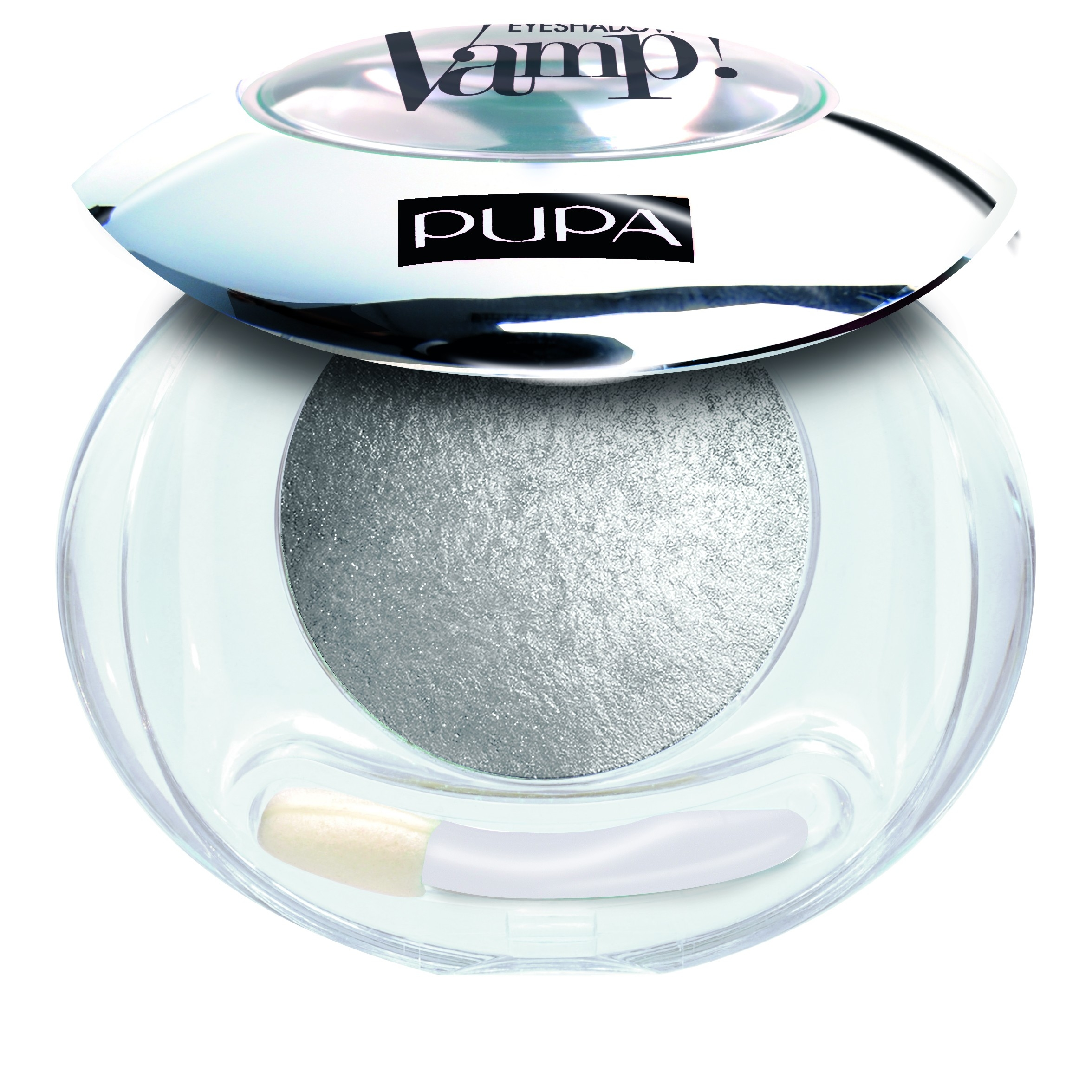 Pupa Vamp Wet  Dry Eyeshadow ombretto cotto luminoso n404 Luxurious Silver