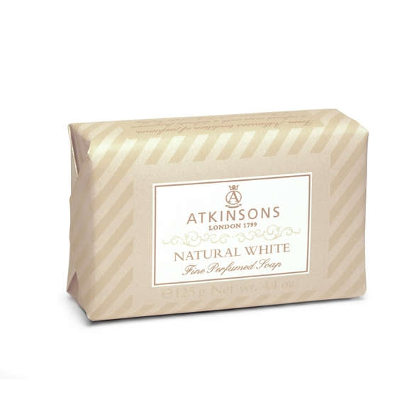 Atkinsons Fine Parfumed Soap sapone profumato Natural White 200 gr