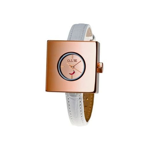 Orologio donna OIW GEOMETRIC ROUNDED SQUARE WHITE GEOM ROUN SQUARE W
