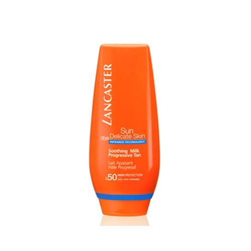 Lancaster Sun Delicate Shooting Milk emulsione extra calmante pelli sensibili spf 50 125 ml