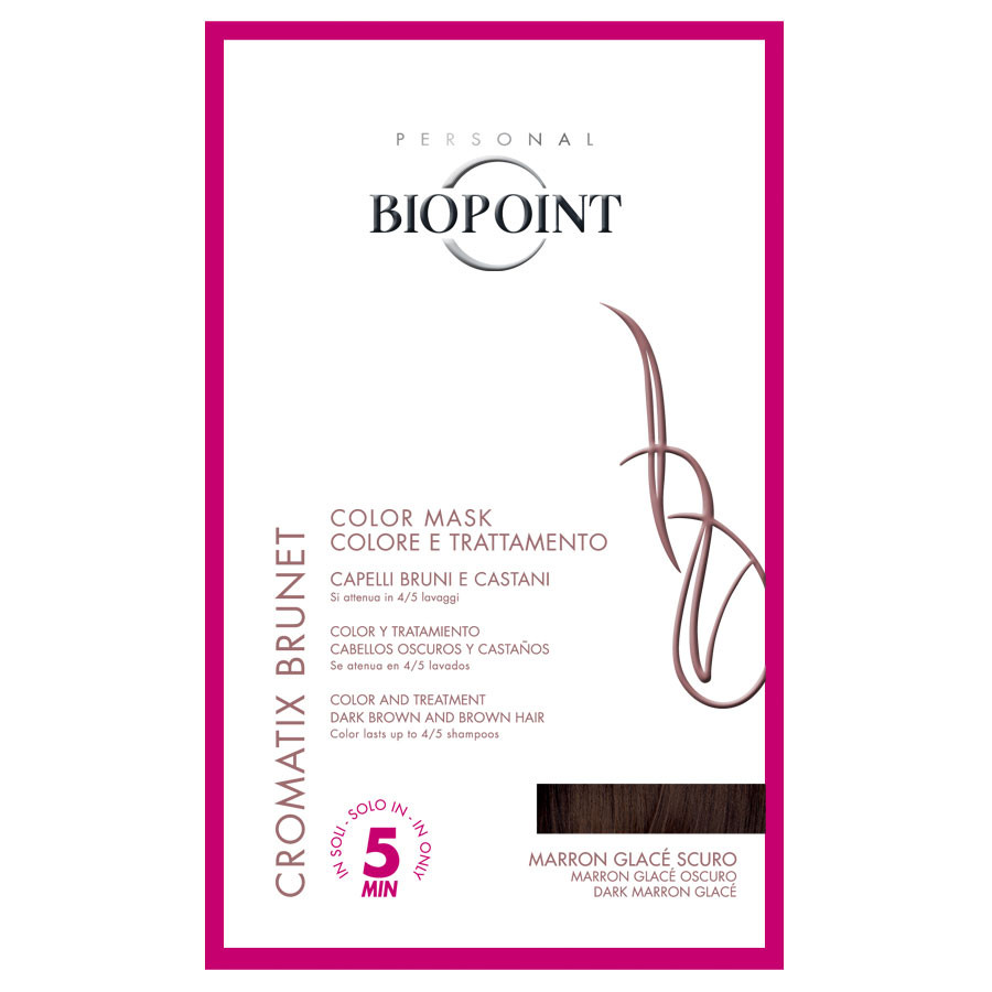Biopoint Color Mask marron glace scuro per capelli bruni e castani monodose 30ml